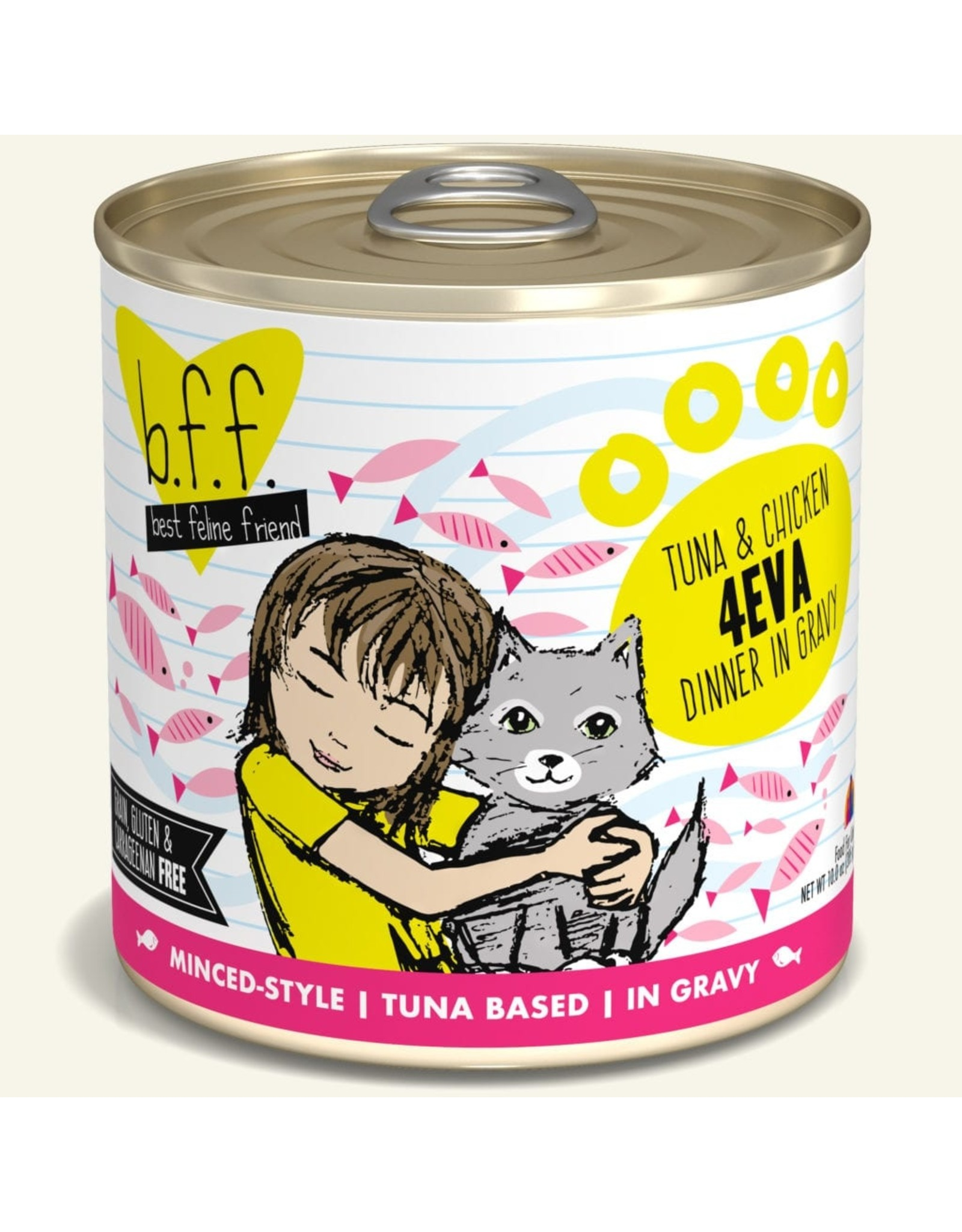 Weruva BFF Weruva B.F.F. Best Feline Friend Originals Wet Cat Food 4Eva Tuna & Chicken Dinner in Gravy 10oz Can