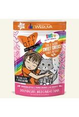 Weruva BFF Weruva B.F.F. OMG Best Feline Friend Oh My Gravy Wet Cat Food Sweet Cheeks Tuna & Salmon Dinner in Gravy 2.8oz Pouch