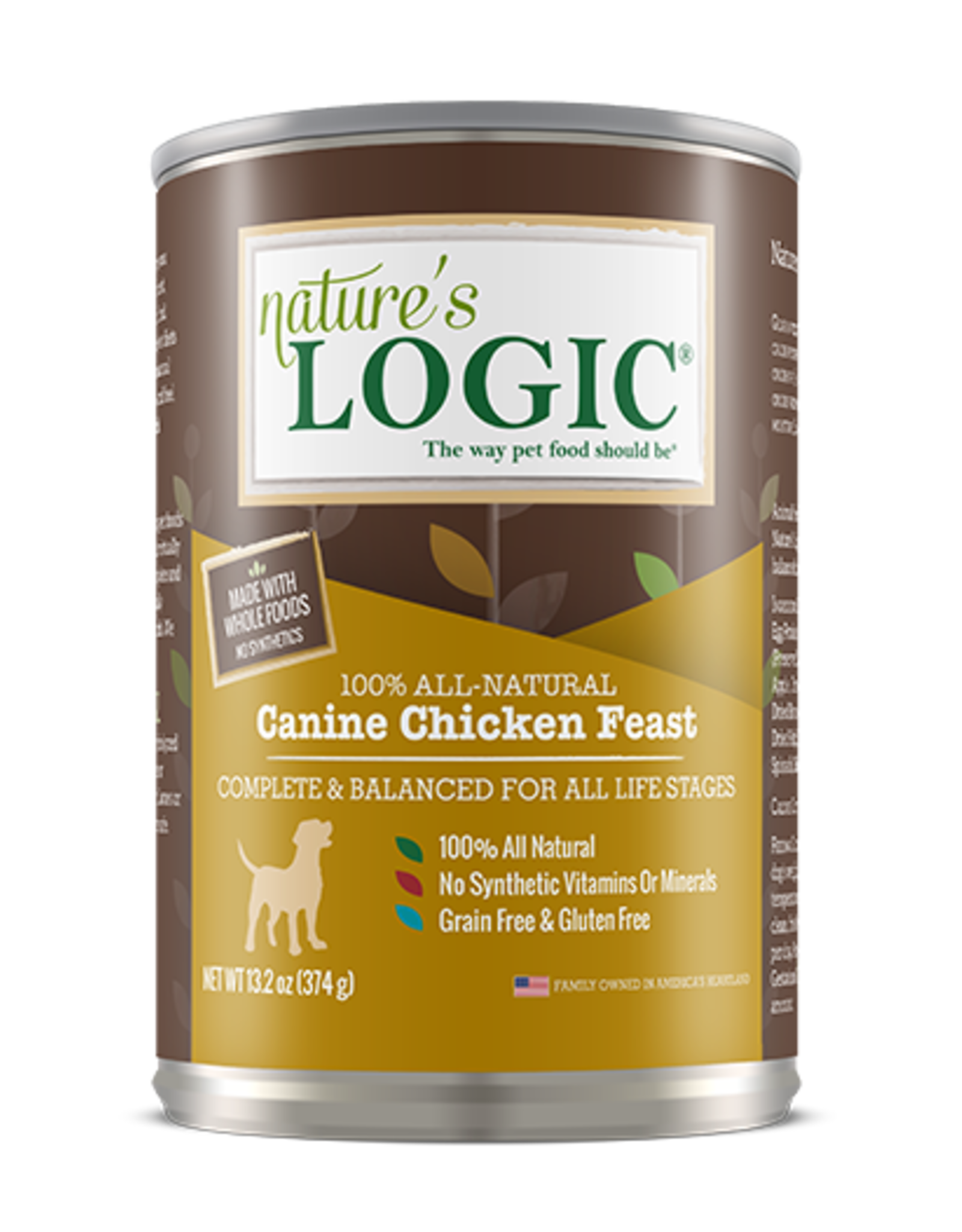 Nature's Logic Nature's Logic Wet Dog Food Chicken Feast 13oz Can Grain Free