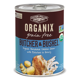 Castor & Pollux Organix Dog Can B&B Shredded Chicken Potato 12.7oz