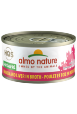 Almo Nature Almo Nature HQS Natural Wet Cat Food Chicken and Liver in Broth 2.47oz Can Grain Free