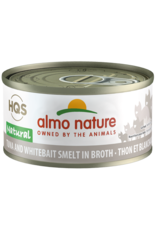 Almo Nature Almo Nature HQS Natural Wet Cat Food Tuna & Whitebait Smelt in Broth 2.47oz Can Grain Free