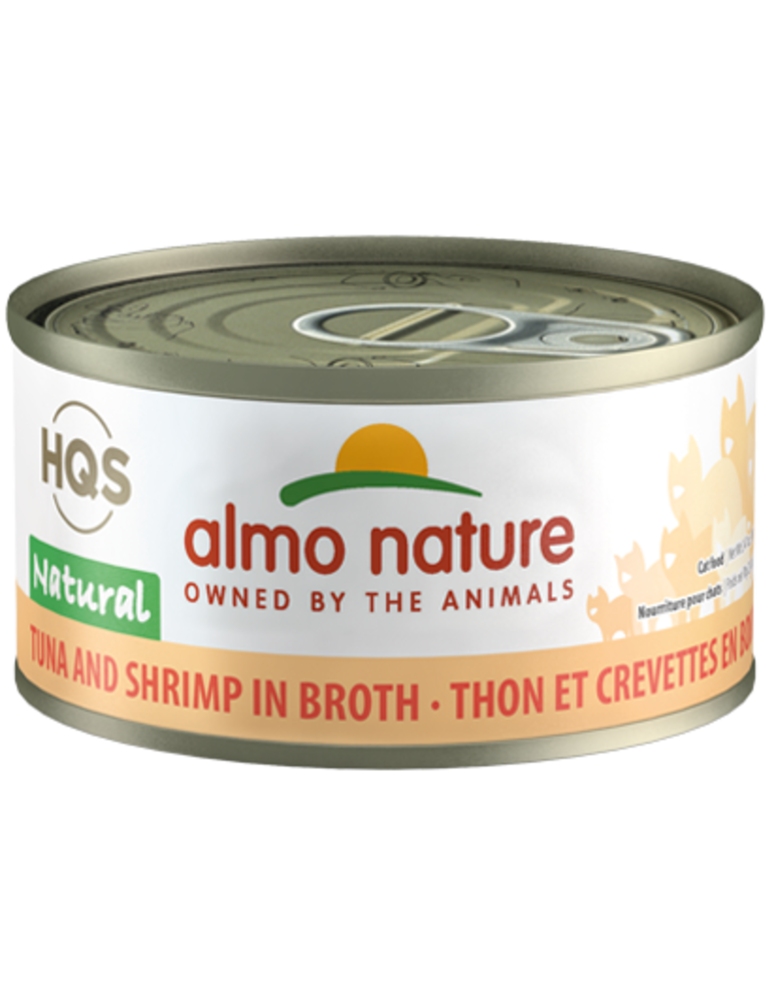 Almo Nature Almo Nature HQS Natural Wet Cat Food Tuna and Shrimp in Broth 2.47oz Can Grain Free