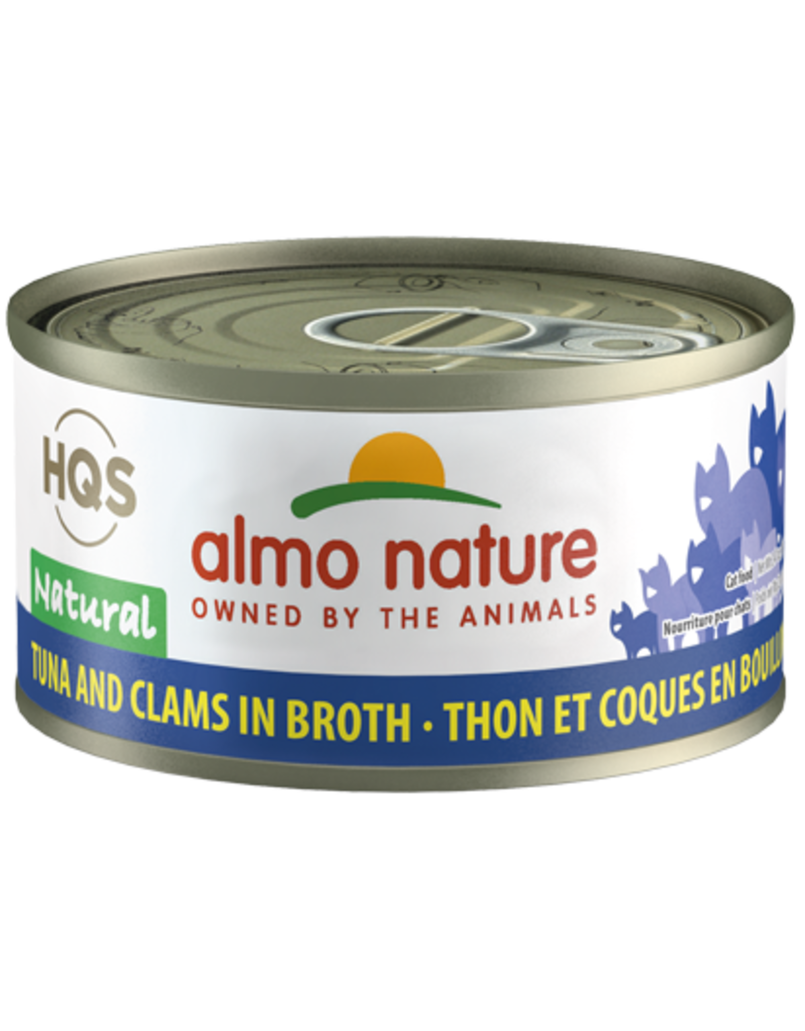 Almo Nature Almo Nature HQS Natural Wet Cat Food Tuna and Clams in Broth 2.47oz Can Grain Free