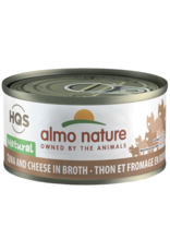 Almo Nature Almo Nature HQS Natural Wet Cat Food Tuna and Cheese in Broth 2.47oz Can Grain Free