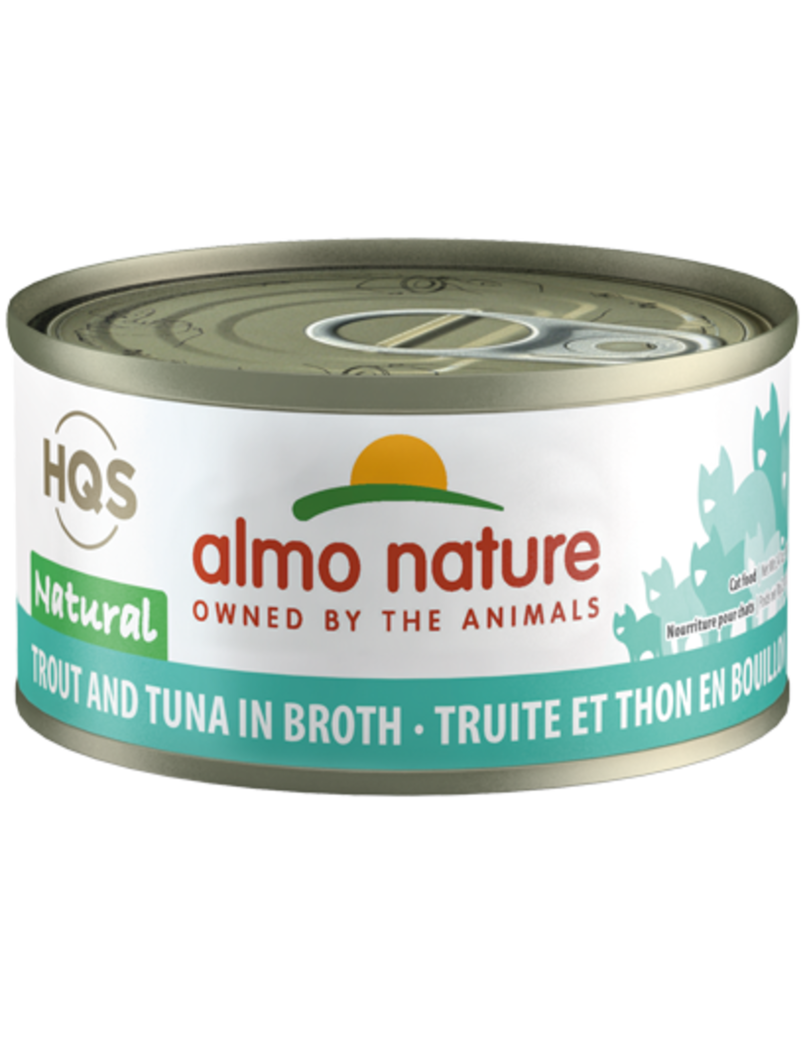 Almo Nature Almo Nature HQS Natural Wet Cat Food Trout and Tuna in Broth 2.47oz Can Grain Free