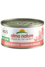 Almo Nature Almo Nature HQS Natural Wet Cat Food Salmon in Broth 2.47oz Can Grain Free
