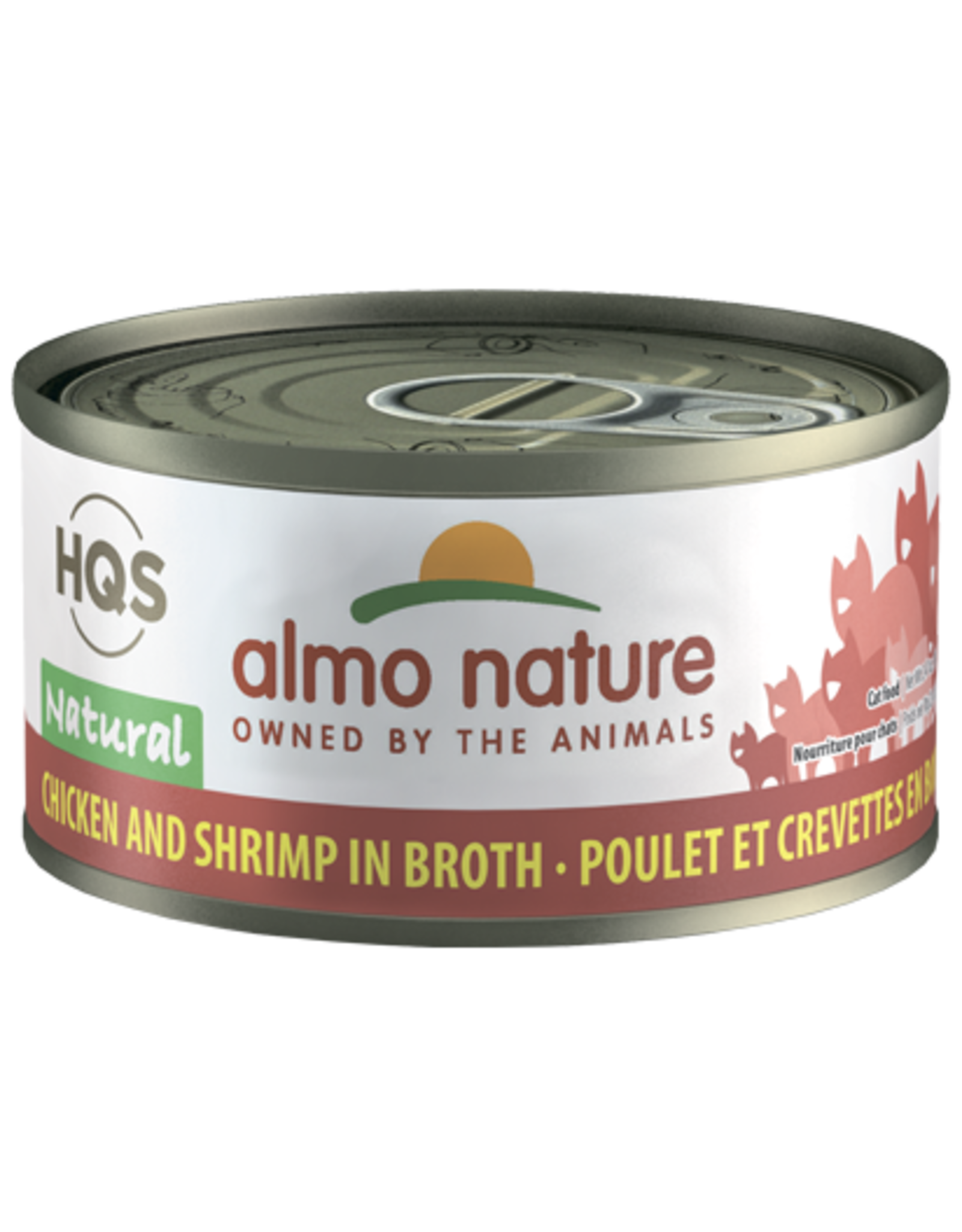 Almo Nature Almo Nature HQS Natural Wet Cat Food Chicken and Shrimp in Broth 2.47oz Can Grain Free