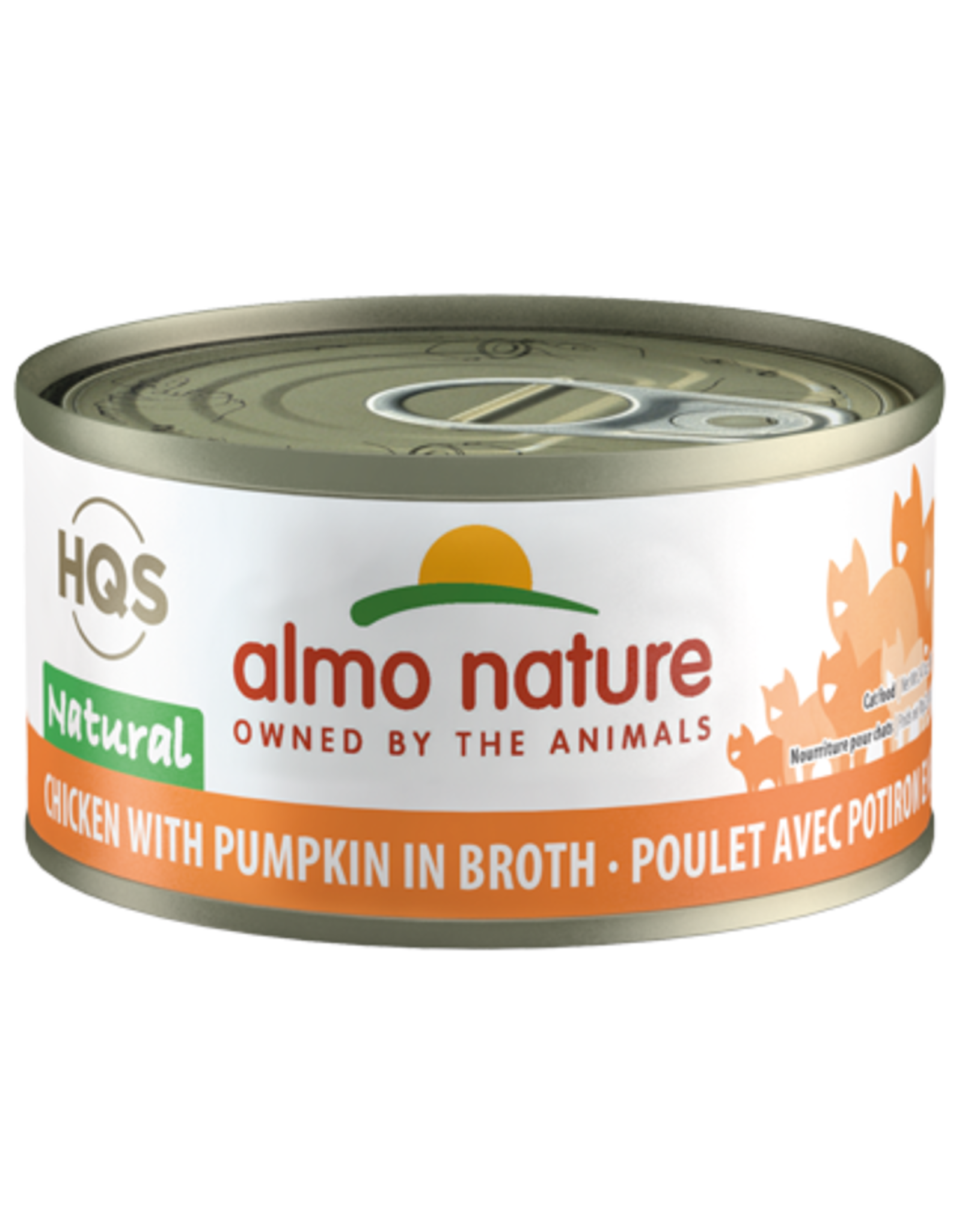 Almo Nature Almo Nature HQS Natural Wet Cat Food Chicken with Pumpkin in Broth 2.47oz Can Grain Free