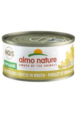 Almo Nature Almo Nature HQS Natural Wet Cat Food Chicken and Cheese in Broth 2.47oz Can Grain Free