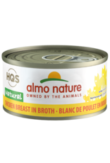 Almo Nature Almo Nature HQS Natural Wet Cat Food Chicken Breast in Broth 2.47oz Can Grain Free