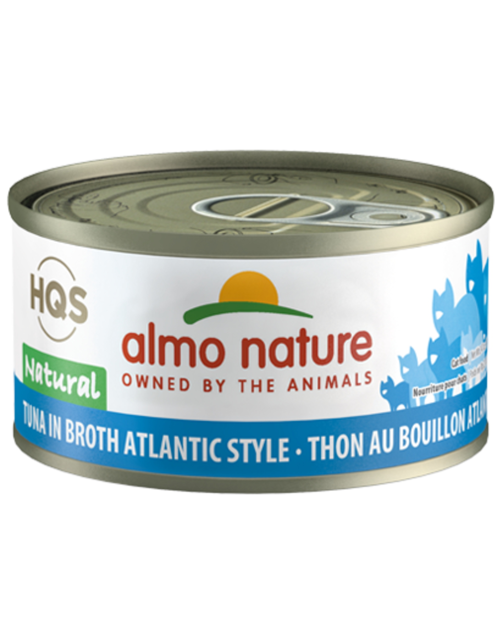Almo Nature Almo Nature HQS Natural Wet Cat Food Tuna in Broth Atlantic Style 2.47oz Can Grain Free