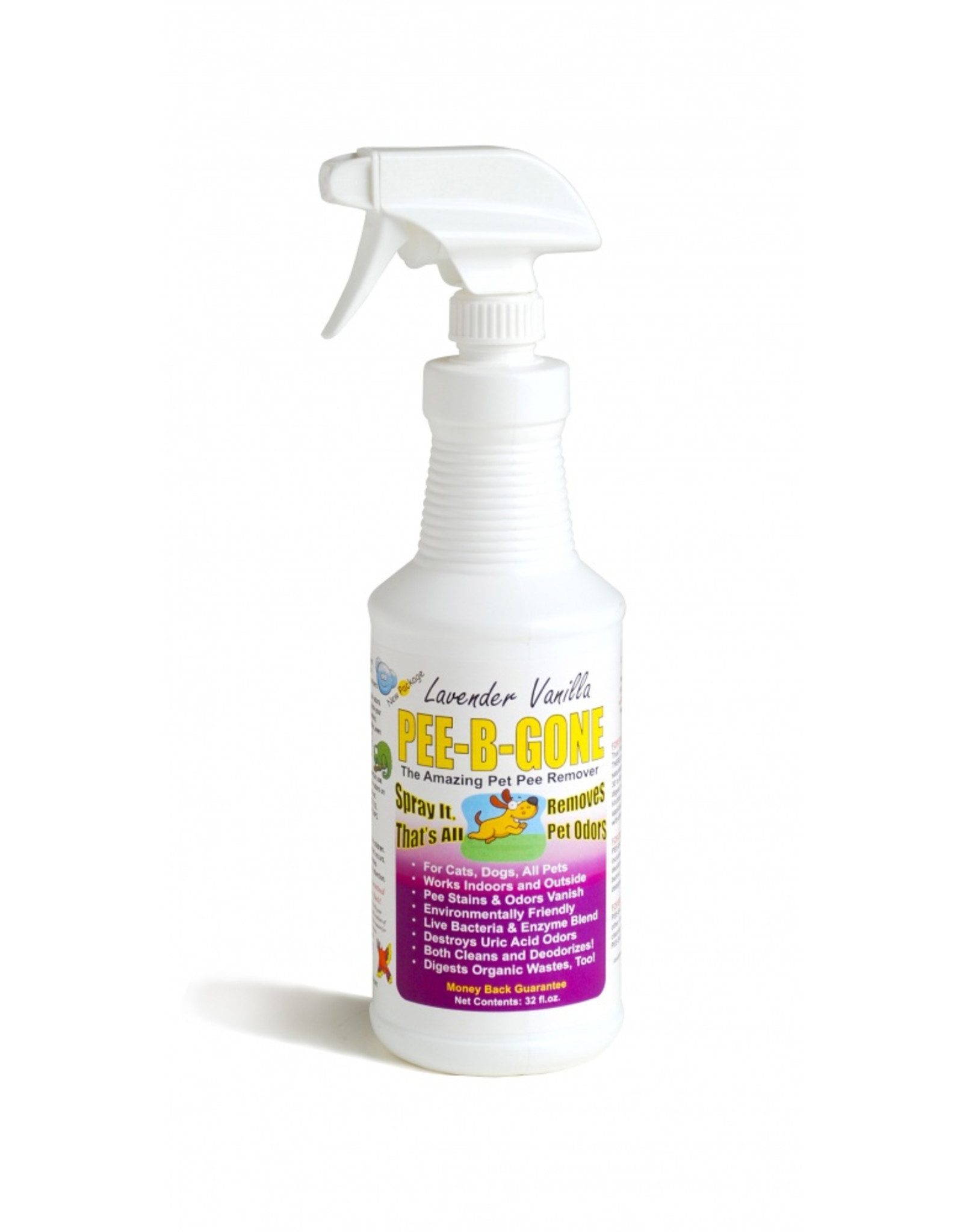 Pee-B-Gone Alzoo Pee-B-Gone Lavender Vanilla Scent Pet Stain & Odor Remover - 32 oz Spray, 1 Gal
