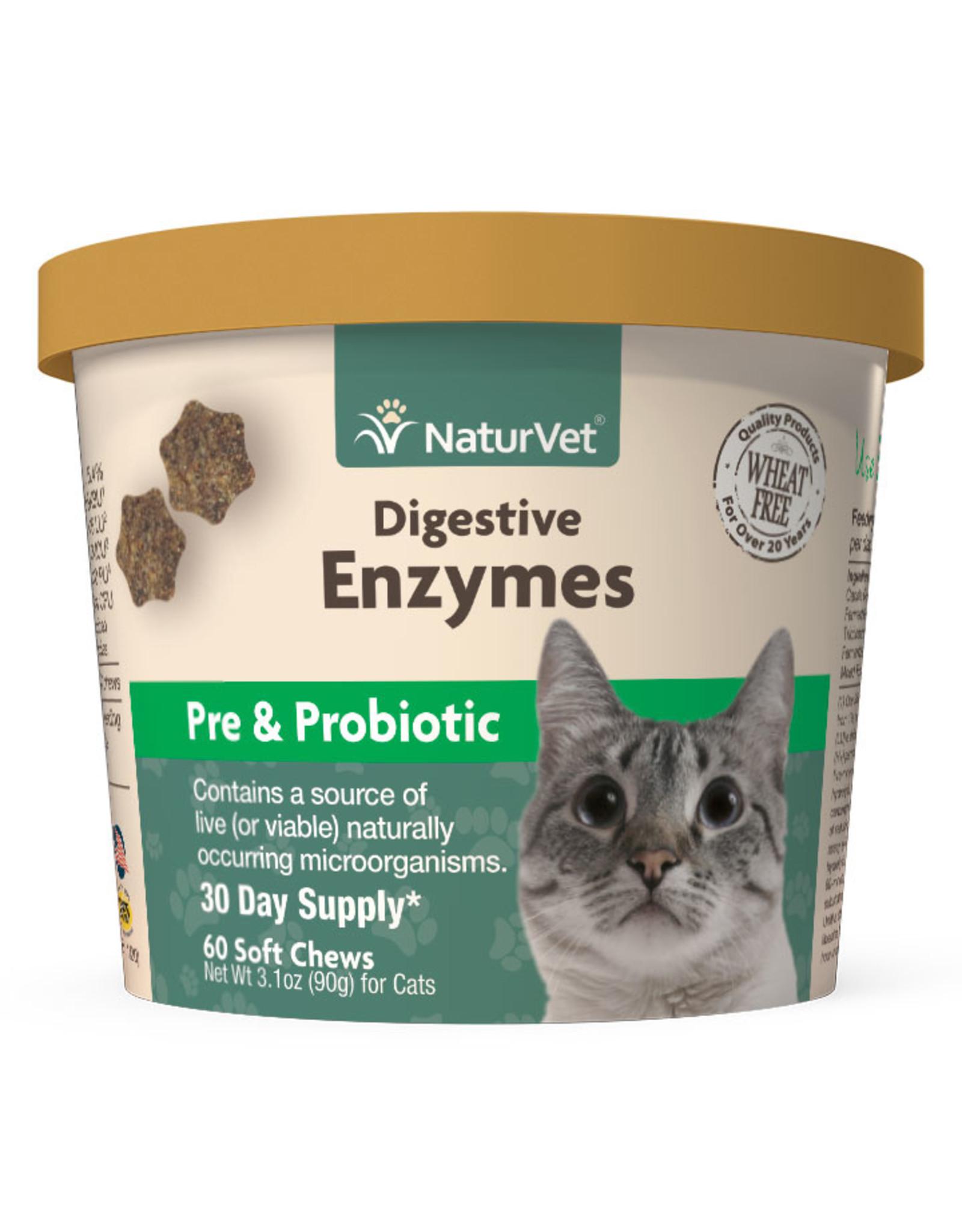 naturVet NaturVet Cat Digestive Enzymes + Pre & Probiotics 60 Soft Chews