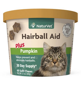 naturVet NaturVet Cat Hairball Aid + Pumpkin Chew 60ct