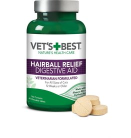 Veterinarians Best Vet's Best Cat Hairball Relief Tablets 60ct