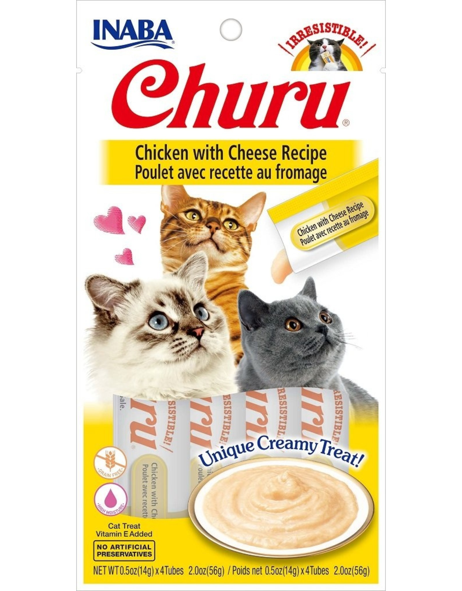 Inaba Inaba Ciao Churu Puree Cat Treat Tubes 4pk Various Tuna & Chicken Flavors Grain Free