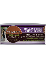 Dave's Pet Food Dave's Wet Cat Food Naturally Healthy Tuna & Chicken Dinner in Gravy 5.5oz Can Grain Free