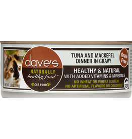 Dave's Pet Food Dave's Cat Can Tuna & Mackerel 5.5oz