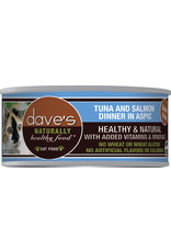 Dave's Pet Food Dave's Wet Cat Food Naturally Healthy Tuna & Salmon Dinner in Aspic 5.5oz Can Grain Free