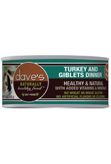 Dave's Pet Food Dave's Wet Cat Food Naturally Healthy Turkey & Giblets Dinner 5.5oz Can Grain Free