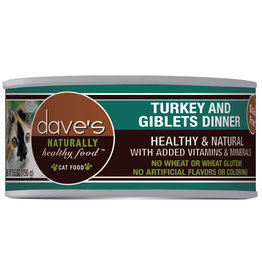 Dave's Pet Food Dave's Cat Can Turkey & Giblets 5.5oz