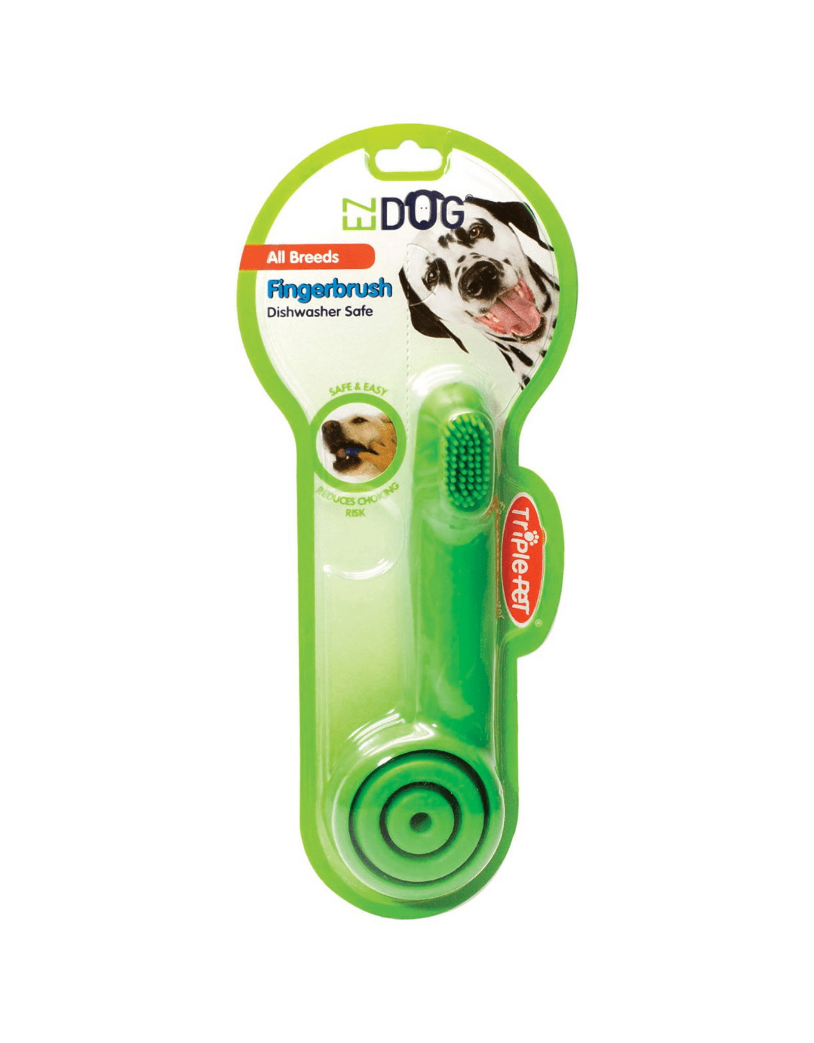 Triple Pet Triple Pet EZ Dog Pet Toothbrush- Fingerbrush, Small Breed, Large Breed