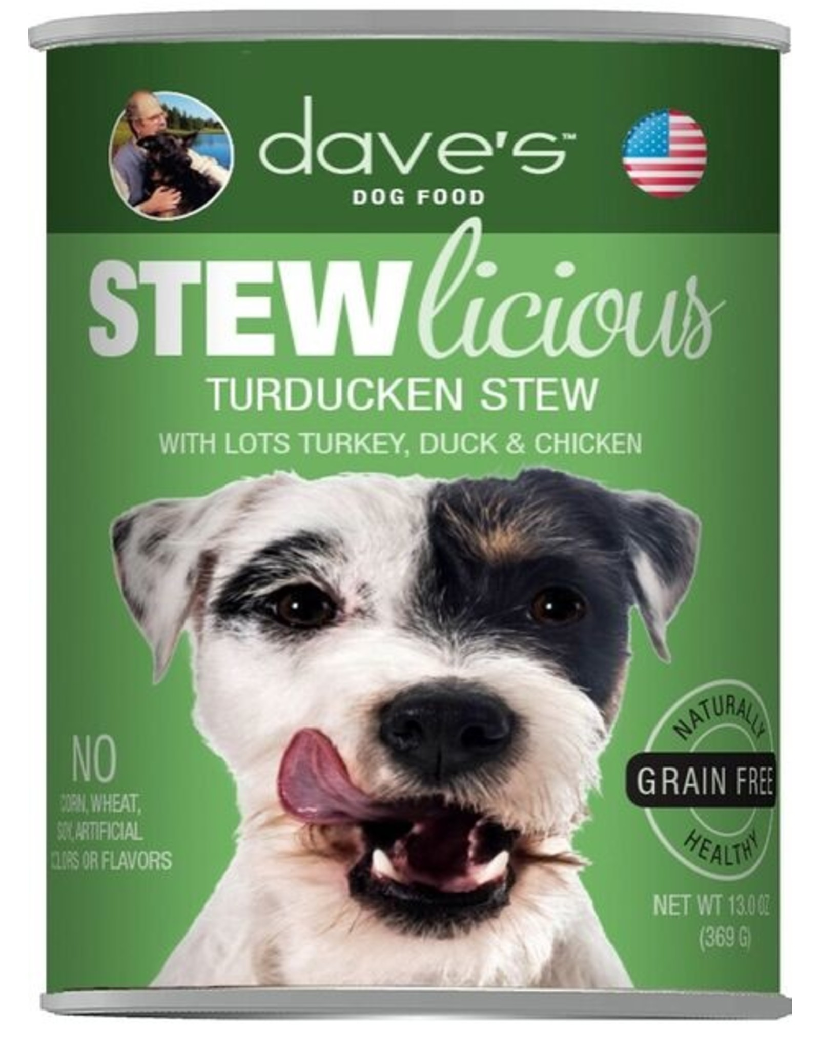 Dave's Pet Food Dave's Wet Dog Food Stewlicious Turducken Stew with Chicken, Duck, & Turkey 13oz Can Grain Free