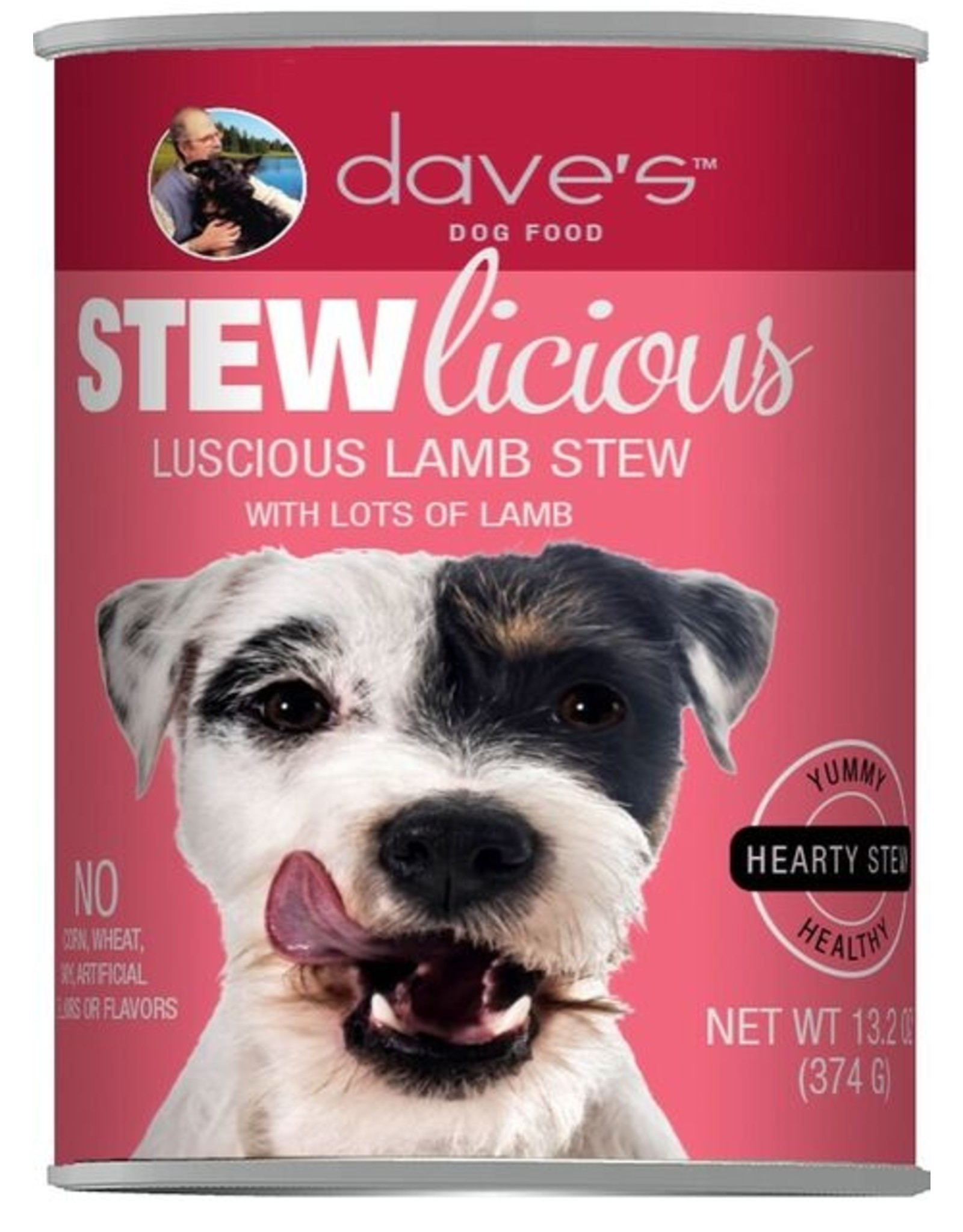 Dave's Pet Food Dave's Wet Dog Food Stewlicious Luscious Lamb Stew 13oz Can Grain Inclusive
