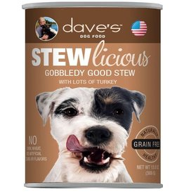 Dave's Pet Food Dave's Dog Can Stew Gobbledy Good 13oz