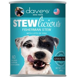 Dave's Pet Food Dave's Dog Can Stew Fisherman 13oz