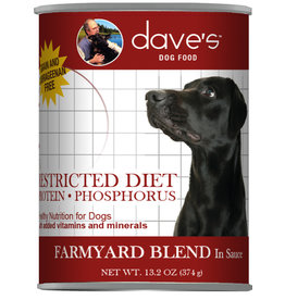 Dave's Pet Food Dave's Dog Can Restricted Protein/Phosphorus Farmyard 13oz