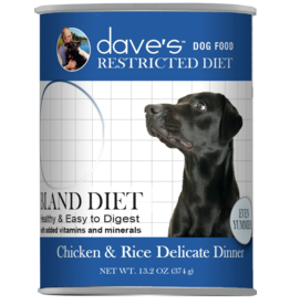Dave's Pet Food Dave's Dog Can Restricted Bland Chicken & Rice 13oz
