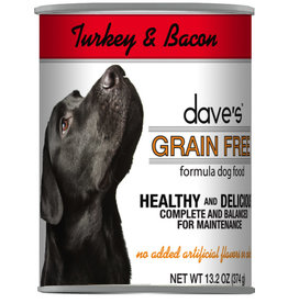 Dave's Pet Food Dave's Dog Can Turkey & Bacon 13oz