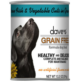 Dave's Pet Food Dave's Dog Can Ocean Fish Vegetables in Gravy 13oz