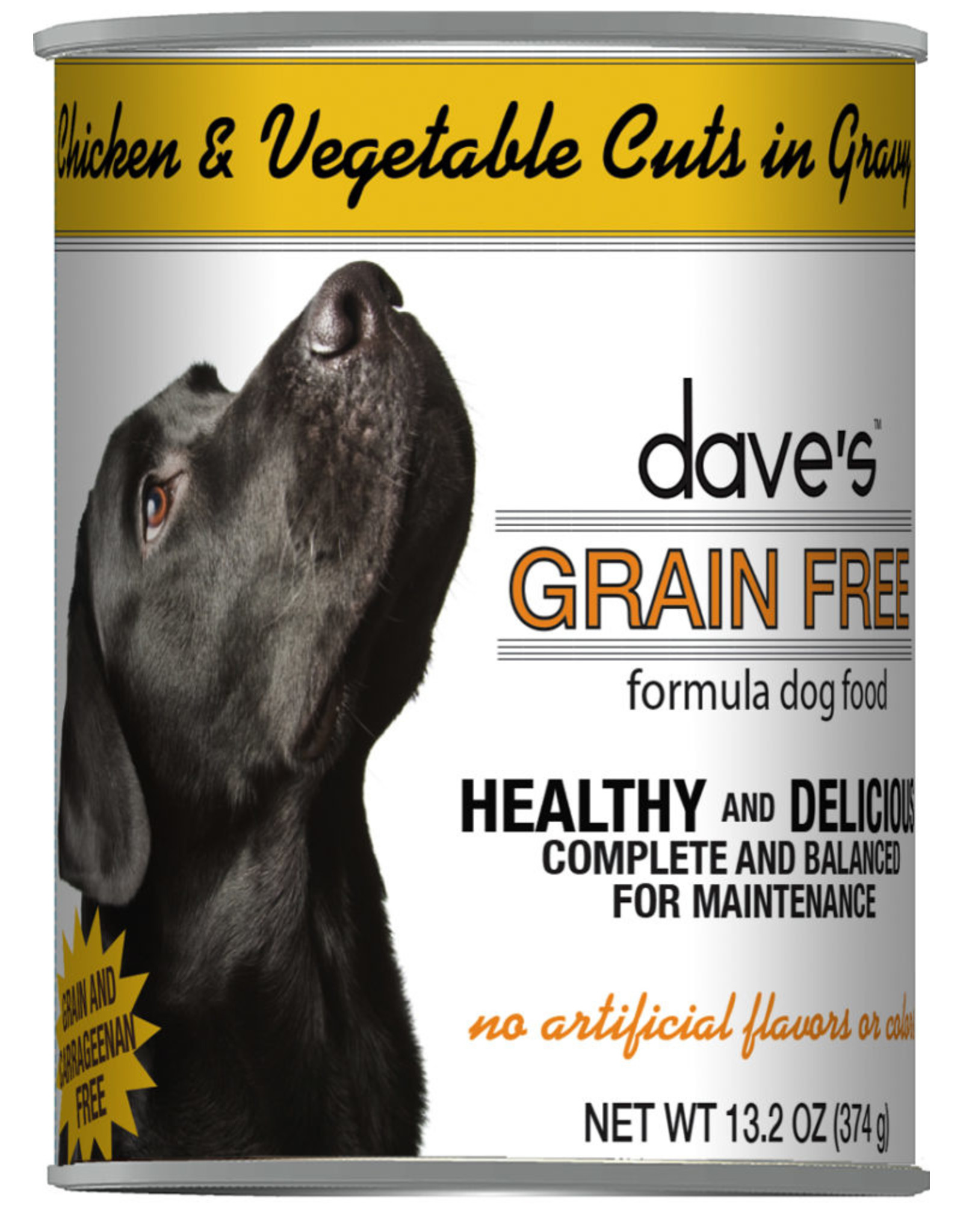 Dave's Pet Food Dave's Wet Dog Food Grain Free Chicken and Vegetable Cuts in Gravy 13oz Can