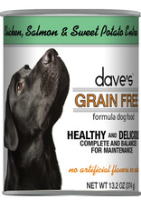 Dave's Pet Food Dave's Wet Dog Food Grain Free Chicken, Salmon, & Sweet Potato Entree 13oz Can
