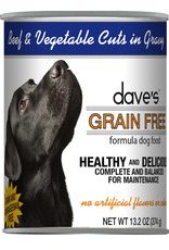 Dave's Wet Dog Food Grain Free Beef and Vegetable Cuts in Gravy 13oz Can