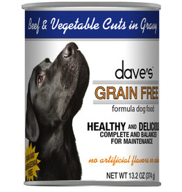Dave's Pet Food Dave's Dog Can Beef Vegetables in Gravy 13oz
