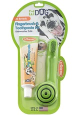 Triple Pet Triple Pet EZ Dog Dental Kit with Toothbrush and Vanilla Mint Pet Toothpaste - Fingerbrush, Small Breed, Large Breed