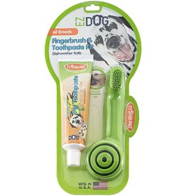 Triple Pet EZ Dog Dental Kit Toothbrush & Toothpaste