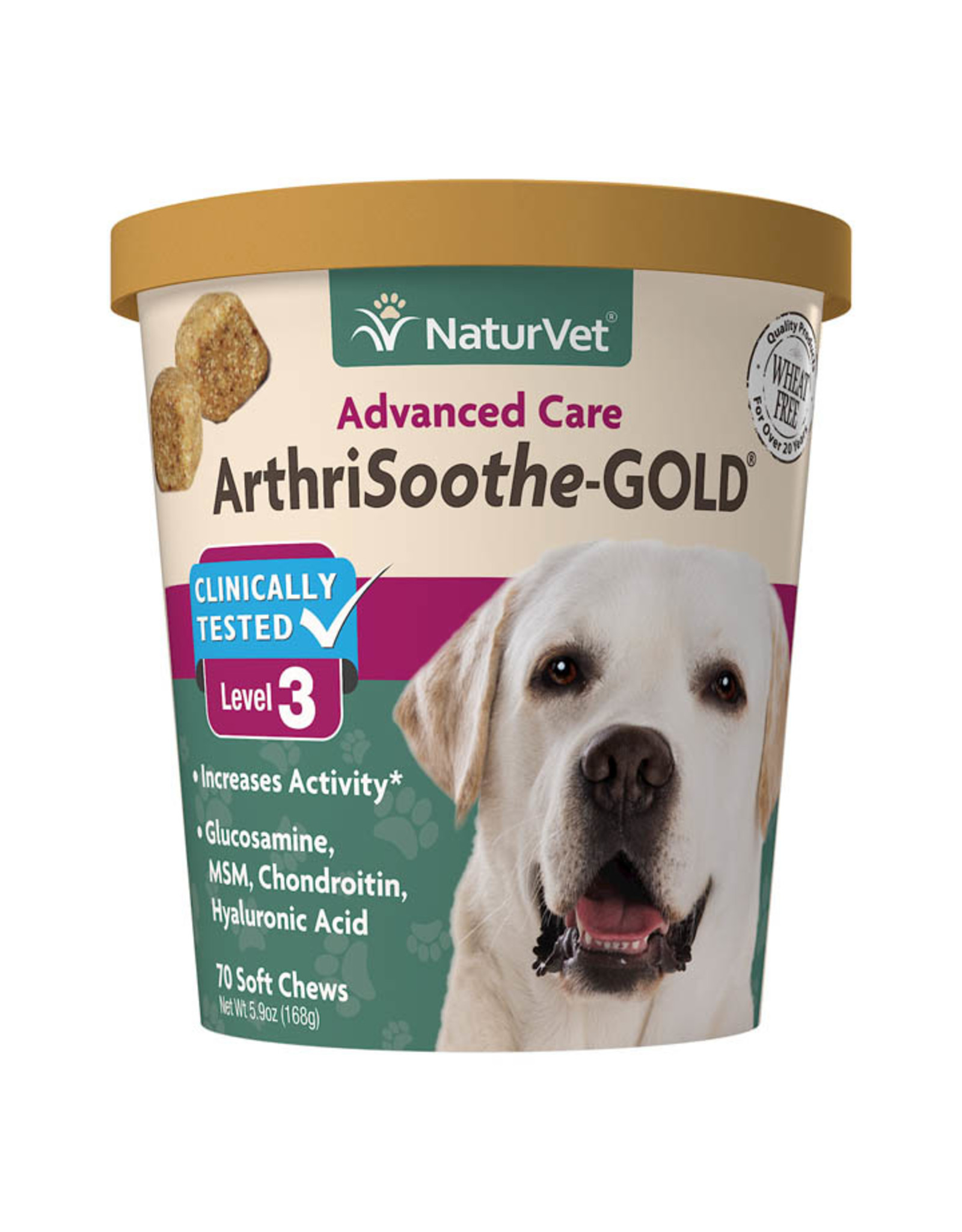 naturVet NaturVet ArthriSoothe Gold Advanced Care Level 3 Joint Health Soft Chews for Dogs and Cats - 70ct, 180ct