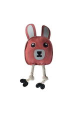 Outback Jack by Cosmic Aussie Naturals Leather Flattie  Bunny Dog Toy