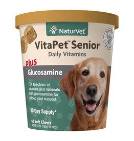 naturVet NaturVet VitaPet Senior Vitamins plus Glucosamine Chew 60ct