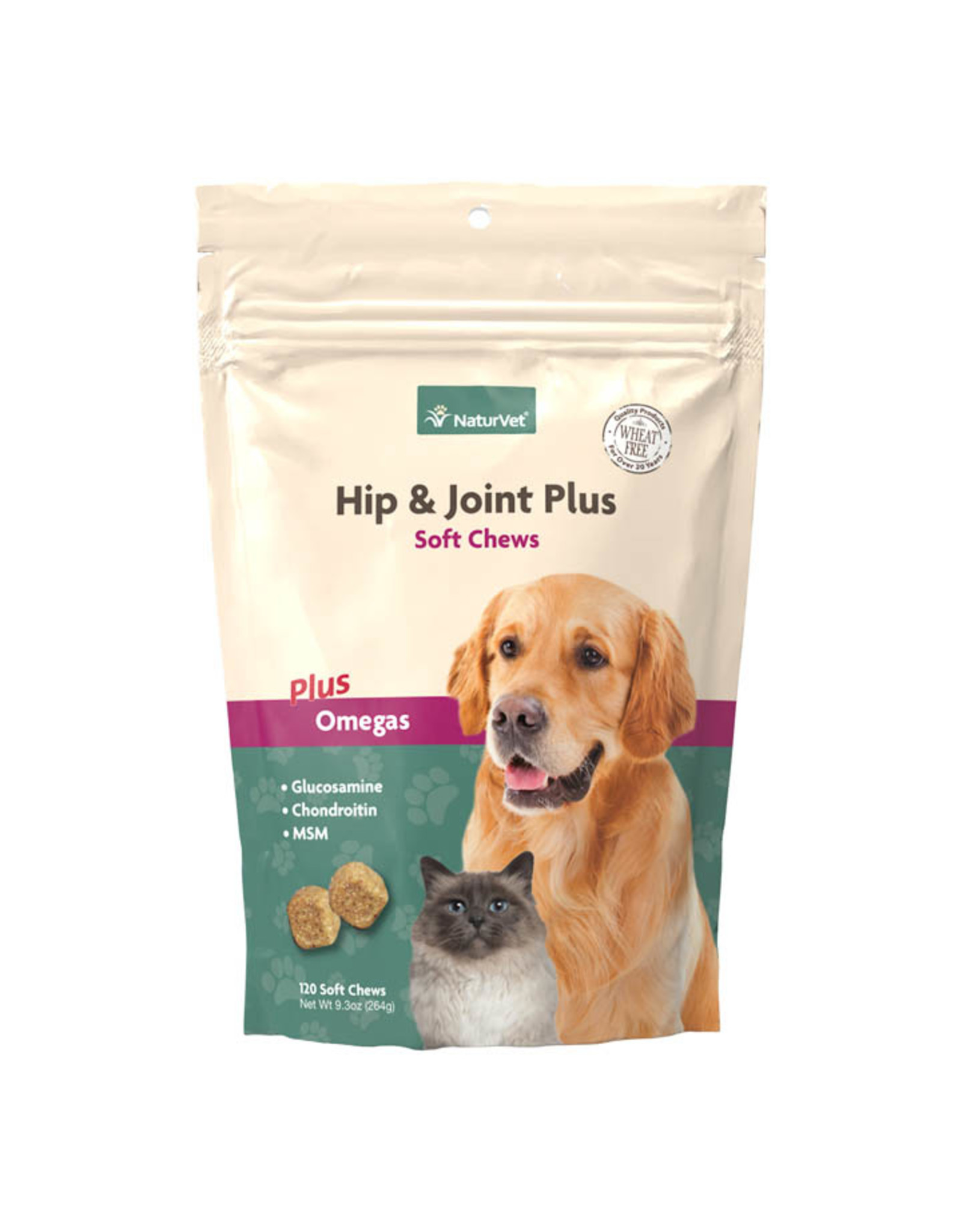 naturVet NaturVet Hip & Joint Chews plus Omegas for Dogs and Cats 120ct