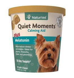 naturVet NaturVet Dog Quiet Moments plus Melatonin Chew 70ct