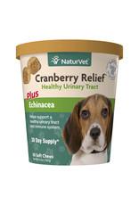 naturVet NaturVet Cranberry Relief Healthy Urinary Tract plus Echinacea Chew 60ct
