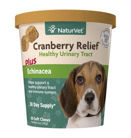 naturVet NaturVet Cranberry Relief Plus Echinacea Chew 60ct