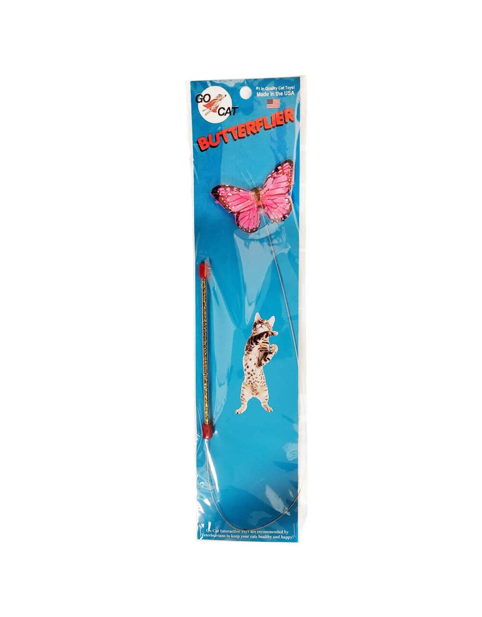 Go Cat Feather Toys Go Cat Butterflier Teaser Wand