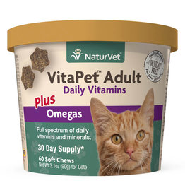naturVet Naturvet Cat VitaPet Adult Daily Vitamins Chews 60ct